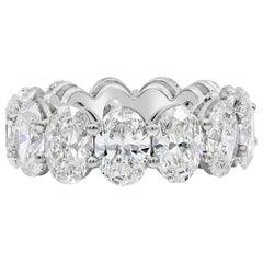 11.27 Carat Oval Cut Diamond Eternity Wedding Band