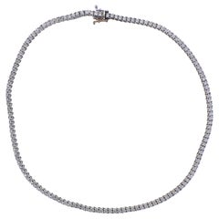 11.28 Carat Diamond Gold Riviere Necklace