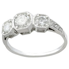 1.13 Carat Diamond and Platinum Trilogy Engagement Ring