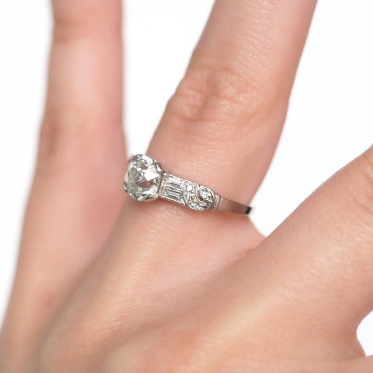 1.13 Carat Diamond Platinum Engagement Ring For Sale At