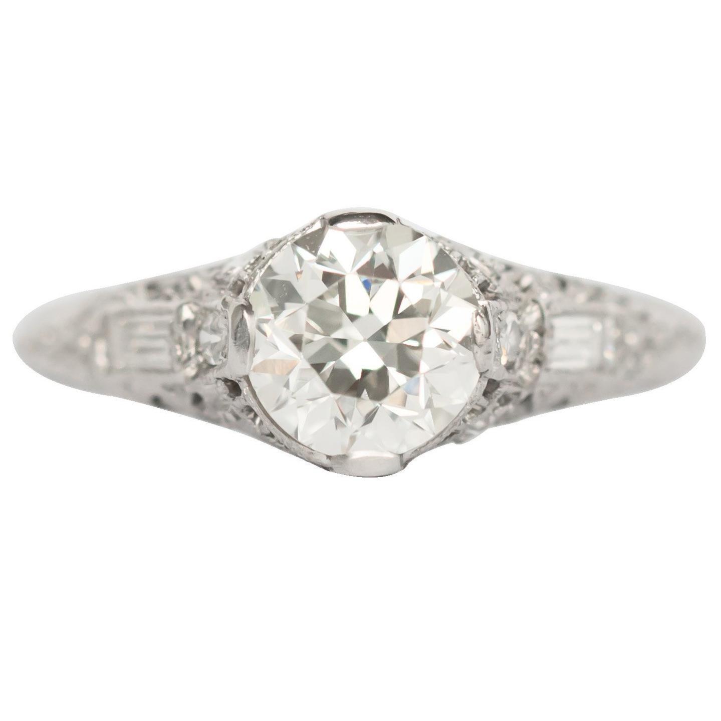 1.13 Carat Diamond Platinum Engagement Ring