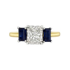 1.13 Carat Radiant-Cut Diamond Ring 'I/VS1)'