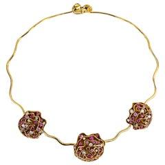 1136A Louis Vuitton Pink Necklace