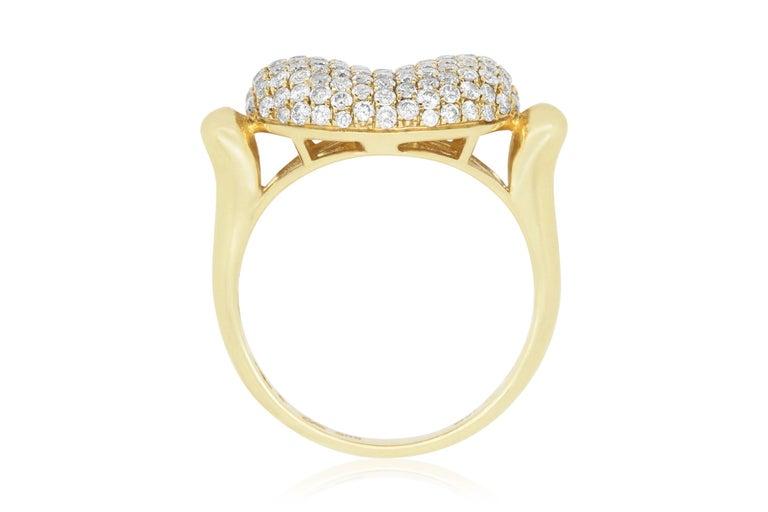 Contemporary 1.15 Carat Diamond Bean Ring