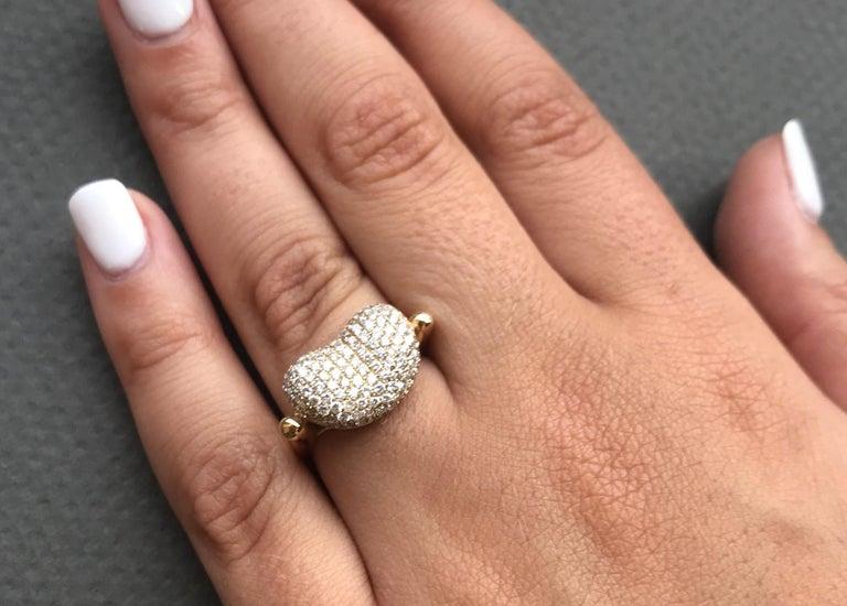 Round Cut 1.15 Carat Diamond Bean Ring