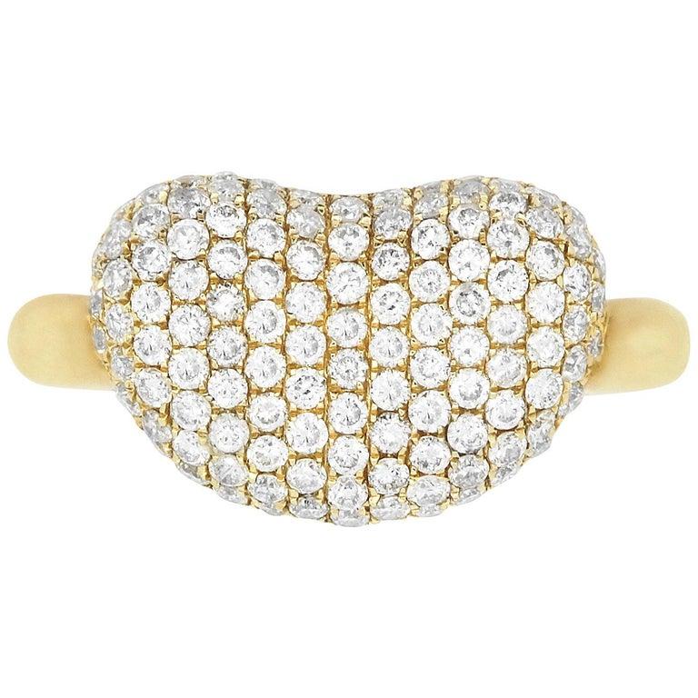 1.15 Carat Diamond Bean Ring