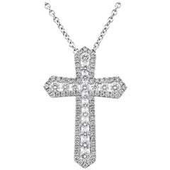 1.15 Carat Diamond Cross Pendant Necklace