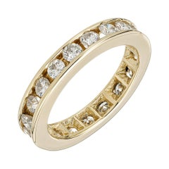 1.15 Carat Diamond Yellow Gold Eternity Band Ring
