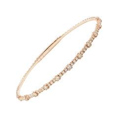 1.15 Carat Flexible Diamond Bangle in Rose Gold