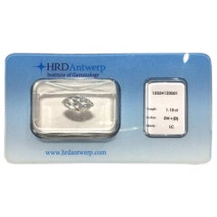 1.15 Carat HRD Certificate White Marquise Diamond