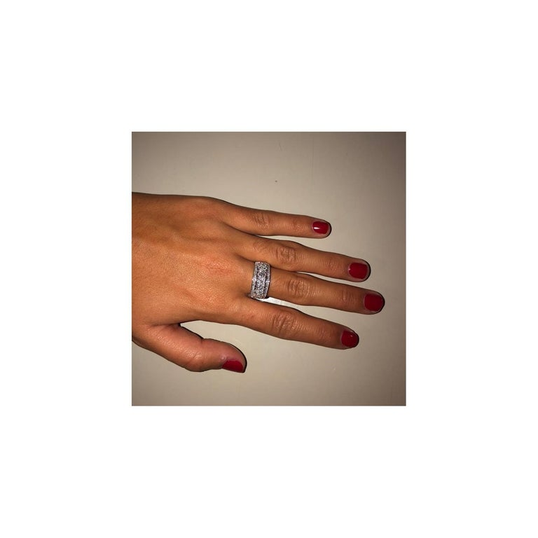 1.15 Carat Marquise or Round Lace Ring 18 Karat Gold Fashion Ring Cocktail Ring For Sale 2
