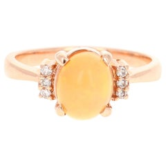 1.15 Carat Opal Diamond 14 Karat Rose Gold Ring