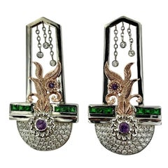1.15 Carat of Diamonds Art Deco Style Earrings