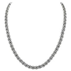 11.50 Carat Diamond White Gold Necklace