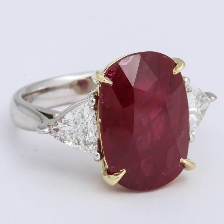 11.50 Carat GIA Certified Ruby Ring In New Condition For Sale In New York, NY