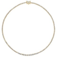 11.58 Carat Total Round Diamond Riviere Necklace