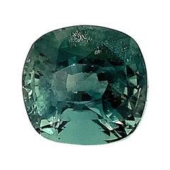 1.16 Carat Alexandrite Chrysoberyl Cushion GIA Unset Loose 3-Stone Ring Gemstone