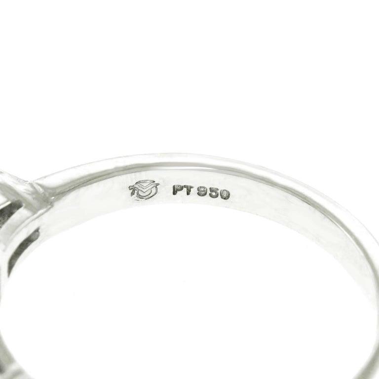 1.16 Carat Diamond Set Platinum Engagement Ring GIA For Sale 1
