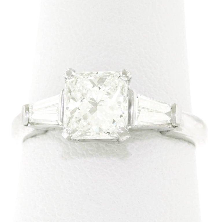 1.16 Carat Diamond Set Platinum Engagement Ring GIA For Sale 4