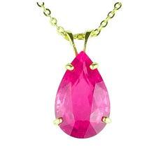 11.6 Carat Pink Tourmaline 14 Karat Gold Cocktail Pendant
