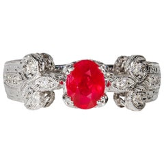 1.16 Carat Ruby and Diamond Cocktail Ring