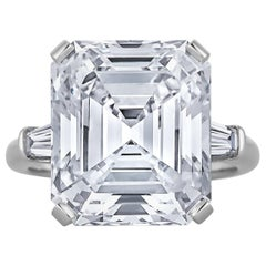 11.64 Carat Emerald Cut Diamond Engagement Ring