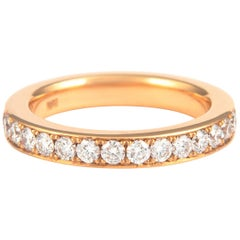 1.17 Carat Diamond Eternity Band 18 Karat Rose Gold