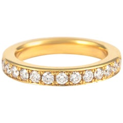 1.17 Carat Diamond Eternity Band 18 Karat Yellow Gold