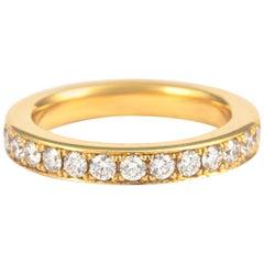 1.17 Carat Diamond Eternity Band 18 Karat Yellow Gold