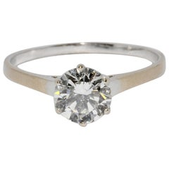 1.17 Carat Solitaire Diamond Engagement Ring, White Gold