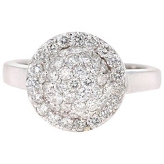 1.18 Carat Diamond 14 Karat White Gold Cocktail Ring
