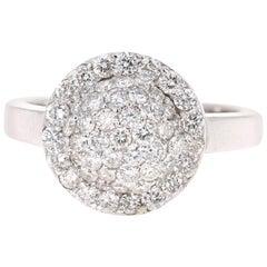 1.18 Carat Diamond 14 Karat White Gold Ring