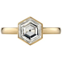1.18 Carat GIA Certified Hexagonal Cut Diamond Set in an 18 Karat Gold Ring