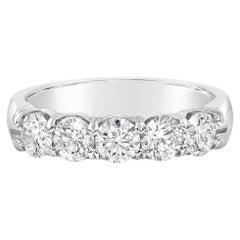1.18 Carat Round Brilliant Diamond Five-Stone Wedding Band