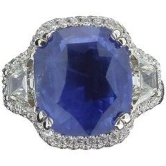 11,85 Karat intensiv blau Nr. beheizt zertifiziert Ceylon-Saphir-Ring