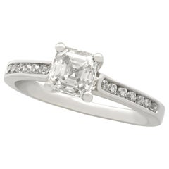 1.19 Carat Diamond and Platinum Solitaire Engagement Ring
