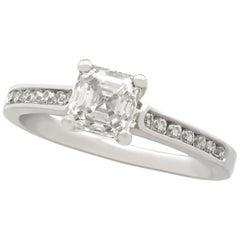 1.19 Carat Diamond and Platinum Solitaire Engagement Ring