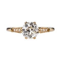 1.19 Carat EGL Certified Old European Cut Diamond Set in an 18 Karat Gold Ring