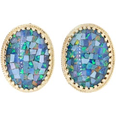 11.9 Carat Opal Stud Earrings