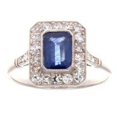 1.19 Carat Sapphire Diamond Platinum Ring