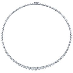11.90 Carat Diamond Graduated Riviera Necklace