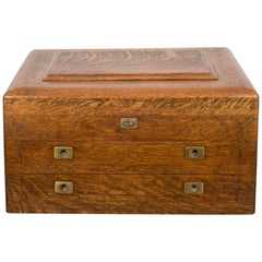 119th Century Oak and Brass Silverware Chest, circa 1890
