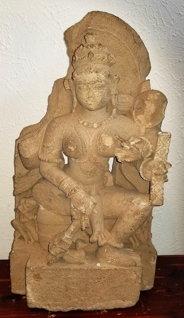 11th Century Saraswati Buff Sandstone For Sale 7