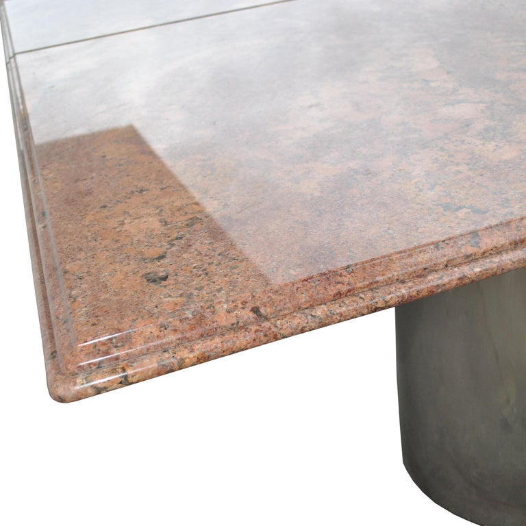 Modern Granite Chrome Conference Table For Sale 3