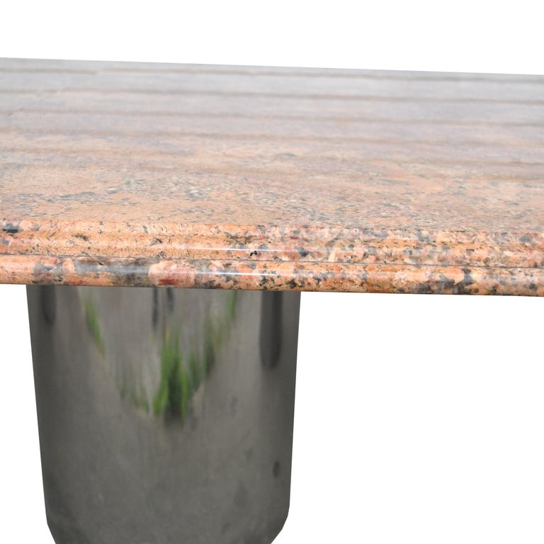 Modern Granite Chrome Conference Table For Sale 4