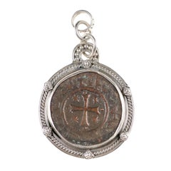 11th-12th Century Authentic Medieval Coin of the Crusades in Sterling Silver