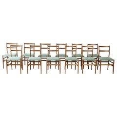 12 / 10 / 8 / 6 Gio Ponti Leggera Model 646 Dining Chairs, Cassina, Italy, 1950s