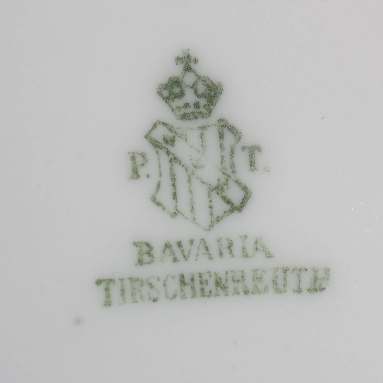 12 Antique German Hand-Painted Bavaria Tirschenreuth Floral Salad Plates
