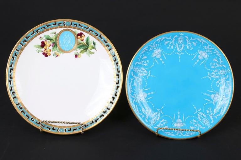 12 Antique Minton Pate-Sur-Pate Bleu Celeste Plates For Sale 2