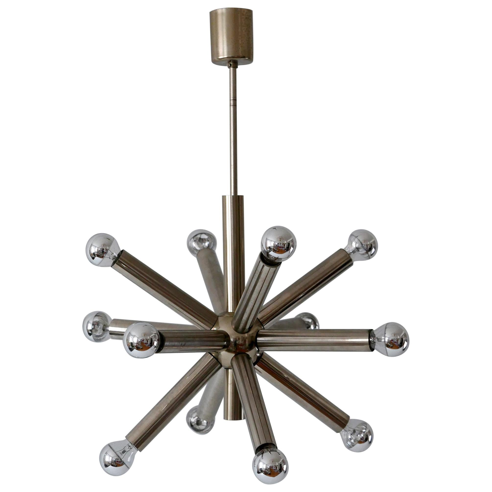 12-Armed Mid-Century Modern Sputnik Chandelier or Pendant Lamp, 1960s, Germany